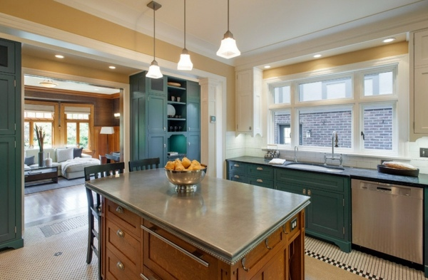 Kitchen countertops and the five best matching materials for Zinc countertop cost