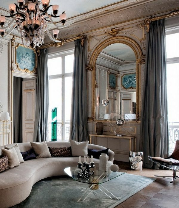 16 Stunning French Style Living Room Ideas: Apartment Design Ideas In French Style
