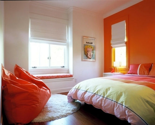 Dreaming in color 10 sensational bedroom in orange interior design ideas avso org - Modern area rugs with a design wooly material to make a warm nuance ...