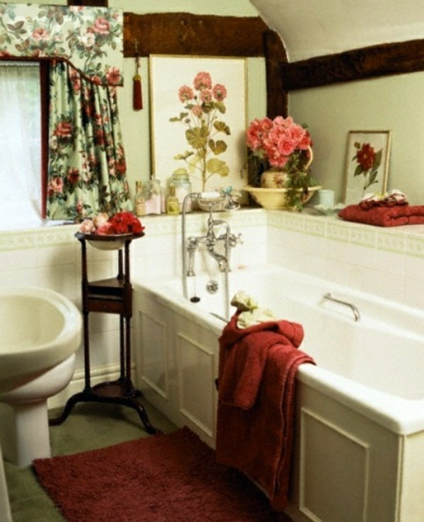 Bathroom Design With Flowers And Plants Original Ideas