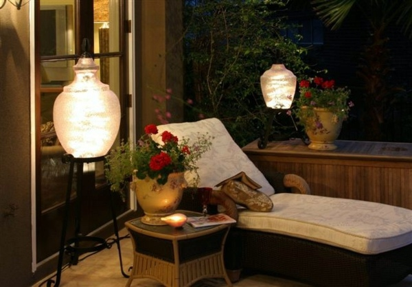 patio deck lighting ideas with balcony design | Balcony and garden lamps lighting – modern cool ideas ...