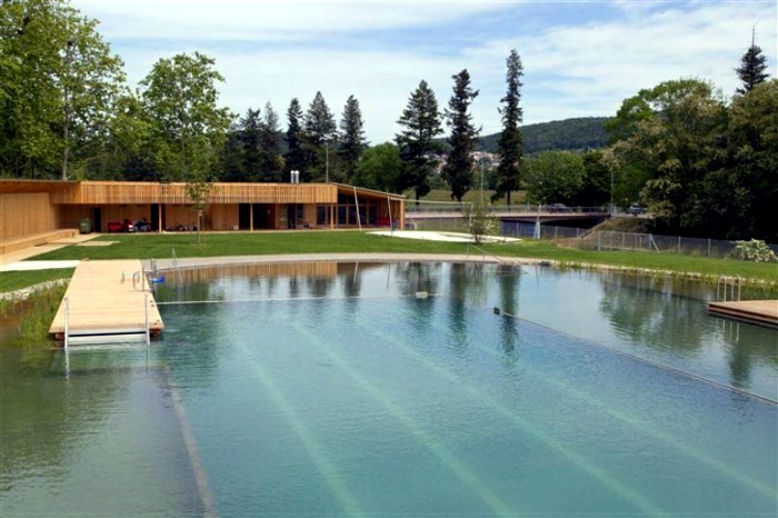 Garden pool without chlorine natural riehen interior for Sustainable swimming pools