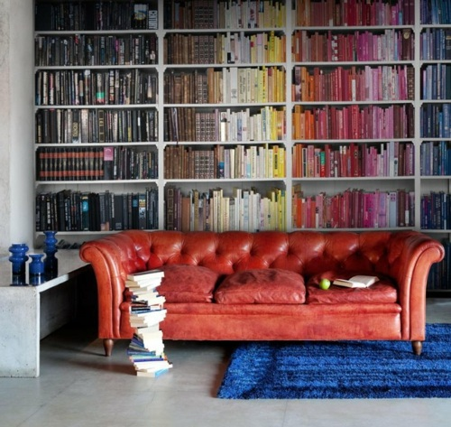 Imitate Cool Wallpaper Pattern That Bookcases – 14 Interior Design