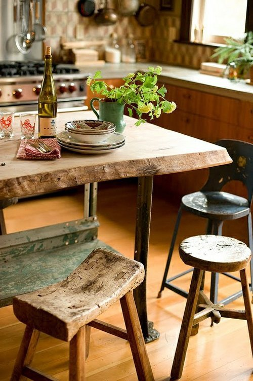 Amazoncom rustic farmhouse table Home amp Kitchen