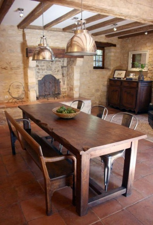 dining in a country style with chairs for dining room interior