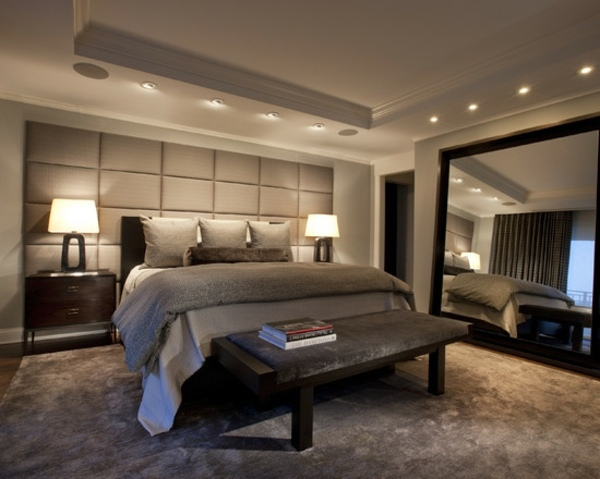 Decorative ceiling with recessed lighting Bedroom ideas for a modern and  relaxing room design