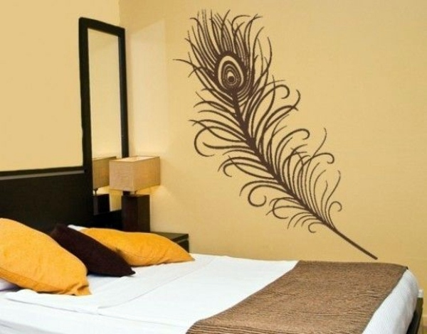 Bedroom wall design creative decorating ideas interior for Bed wall design