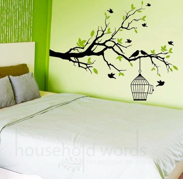 Bedroom wall design creative decorating ideas interior for Mural art designs for bedroom