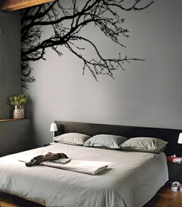 Wall Decal   Tree Branches Bedroom Wall Design   Creative Decorating Ideas