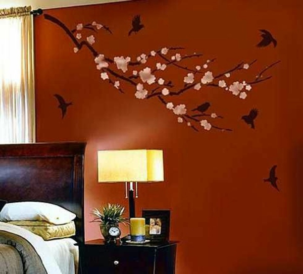 how to design your bedroom wall using wall stickers stencils and vinyl