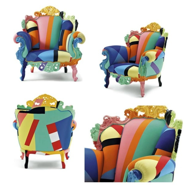 Great Beautiful Ornaments And Bright Colors Elegant Armchair Design From Italy:  Proust Geometrica   A Modern Interpretation Of Alessandro Mendini