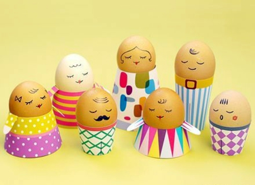 Egg Character Design Ideas : Painted easter eggs with face interior design ideas avso
