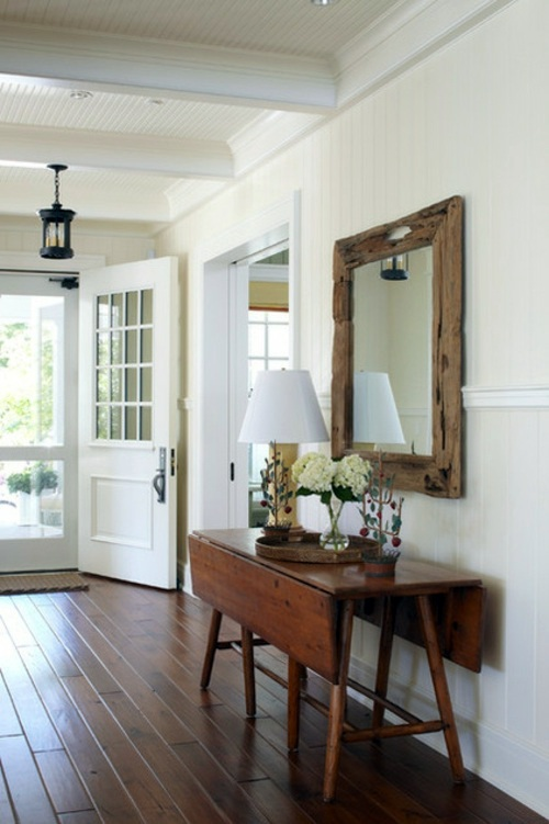 Heating with wood Setting up interior design country style - create rustic  ambience everywhere