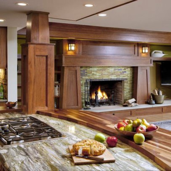 Contemporary Craftsman Living Room: Great Ideas On How To Decorate The Fireplace