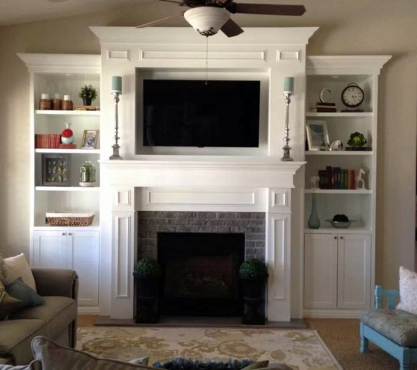 Great Ideas On How To Decorate The Fireplace Interior