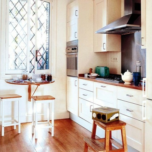 10 useful ideas for a folding table in the kitchen area interior