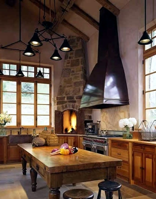 Cosy ambience with kitchen fireplace | Interior Design Ideas ...