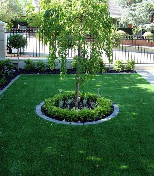 decorative tree in the garden center front garden design ideas creative design ideas for your exterior