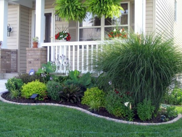 Front garden design ideas creative design ideas for your for Simple landscaping plants