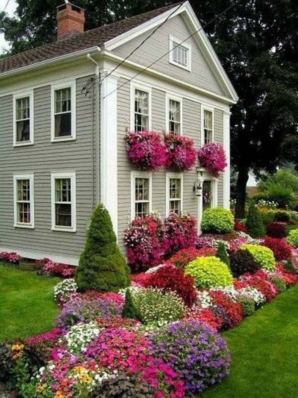 Flowers In The Window Front Garden Design Ideas   Creative Design Ideas For  Your Exterior