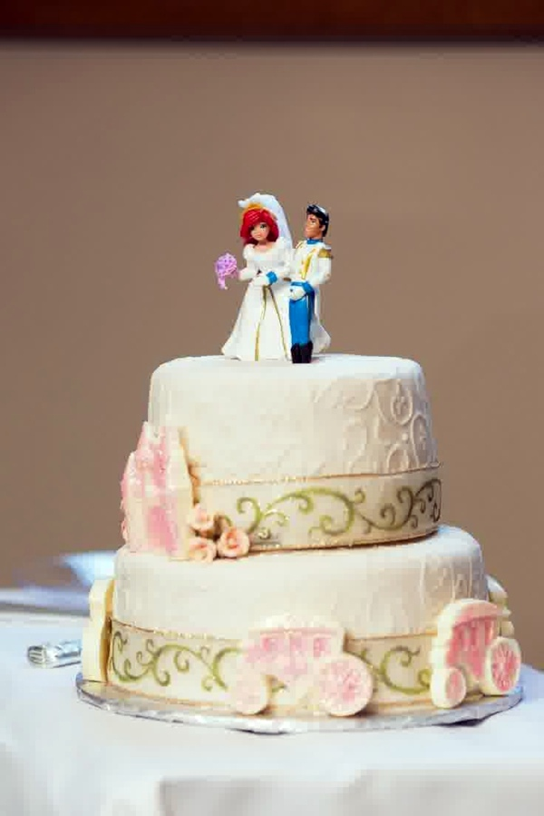 Disney Little Mermaid Wedding Cake Toppers