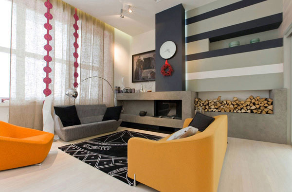 Fun living room design with modern flair | Interior Design Ideas ...