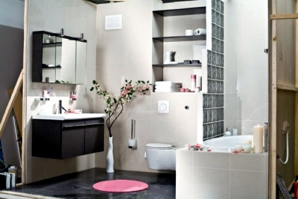 Image gallery japanese small bathrooms for Small japanese bathroom design