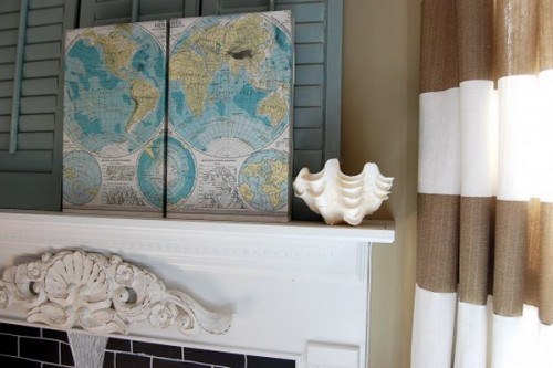 Interior decoration with Maps - 25 Ideas for Self-Design