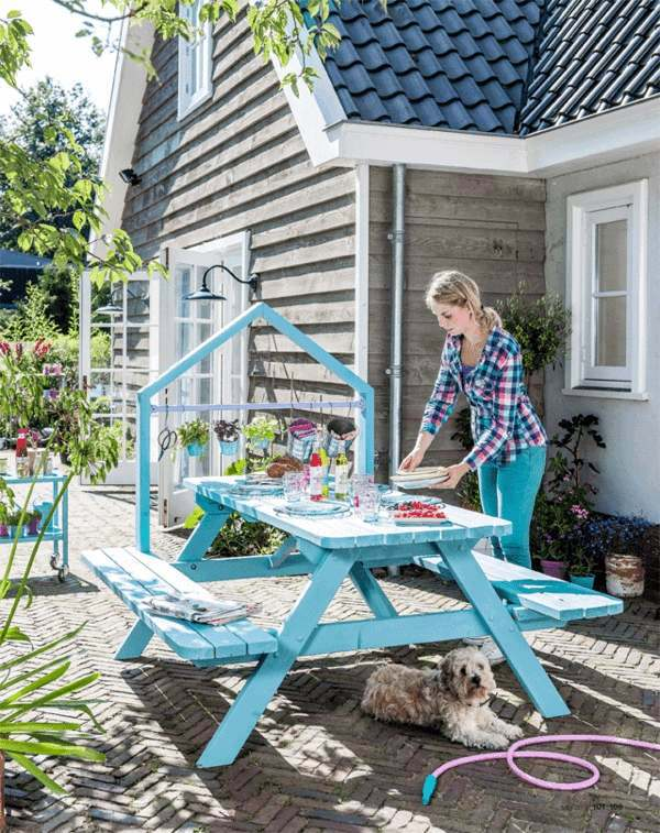 Garden table build yourself - Put some creativity and a craft!