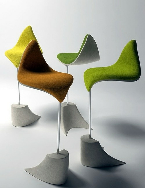Designer furniture chairs standing the leaf inspired for Designer furniture replica malaysia