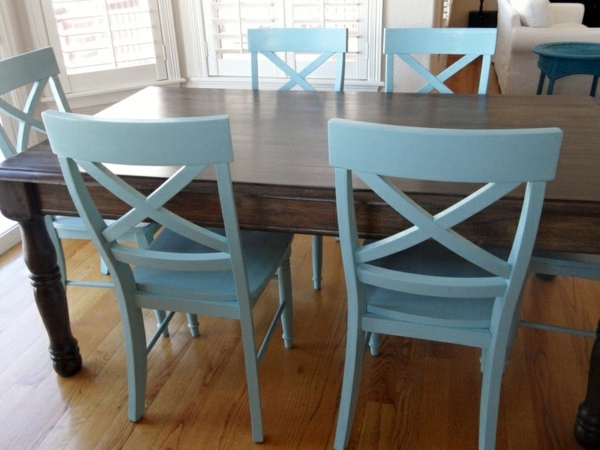 Painted Wooden Kitchen Chairs