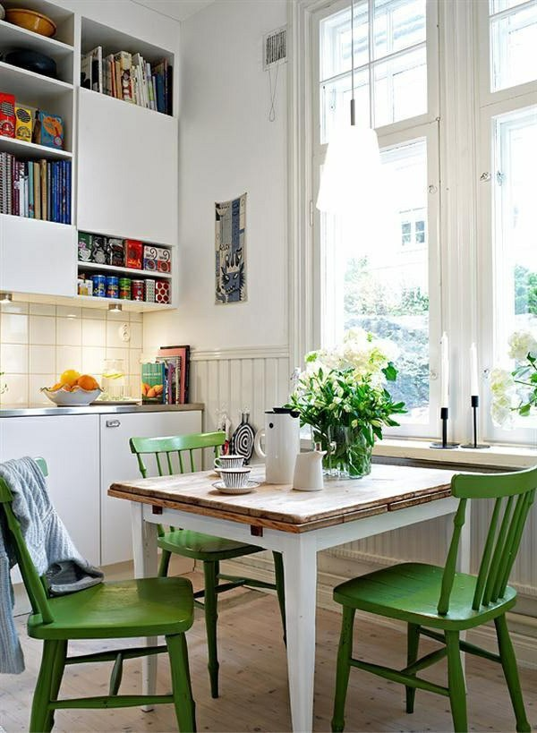 green kitchen chairs painted kitchen table and chairs - Green Kitchen Table