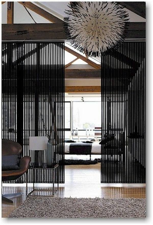 Black Room Divider Sliding Doors As Dividers