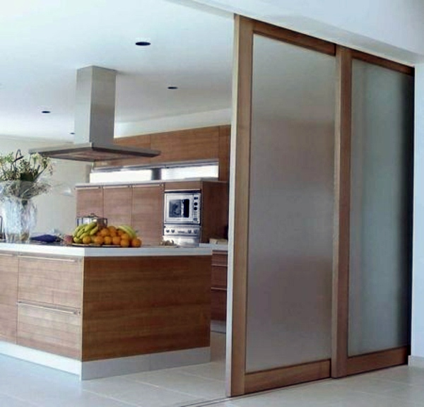 Sliding doors as room dividers more privacy in the small - Doors to separate kitchen from living room ...
