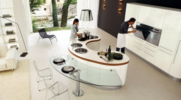20 Kitchen Island Designs   Wide Variety Of Interiors For Your Kitchen  Küche   20 Modern ...
