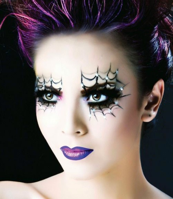 Cool Halloween makeup tips for a unique look Interior - Purple Halloween Makeup Ideas