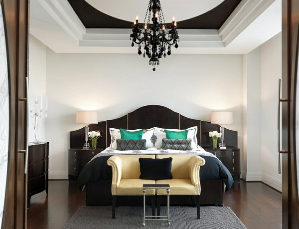 black and white bedrooms with color accents images