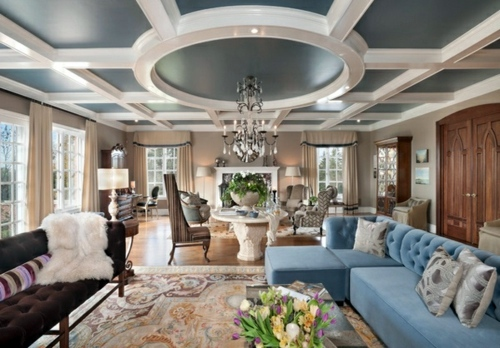 Look Elegant And Classic Upholstered Furniture 33 Great Decorating Ideas  For Ceiling Design In Living Room Modern ...