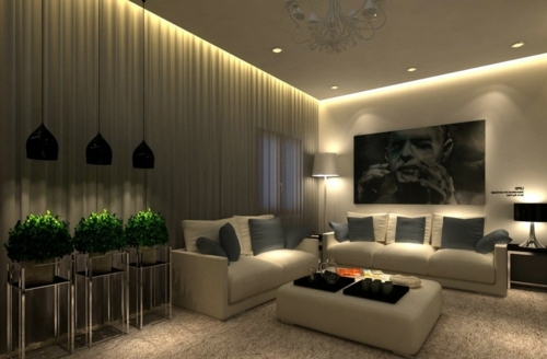 Ceiling Ideas For Living Room living room ceiling designs surrounding light Indirect Lighting Soft Cap 33 Great Decorating Ideas For Ceiling Design In Living Room