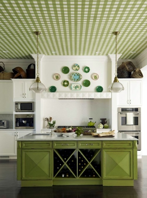 Fresh Green Decorative Wall Plate Great Wall Decoration In The Kitchen