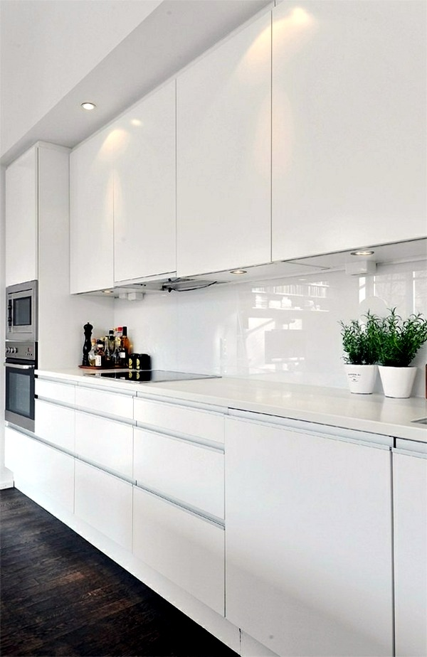 Plan kitchen decor in white modern white kitchen for Kitchen designs modern white