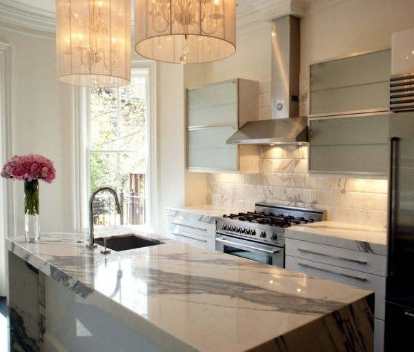 Fill The Gap In The Small Modern Kitchen Designs: Plan Kitchen Decor In White