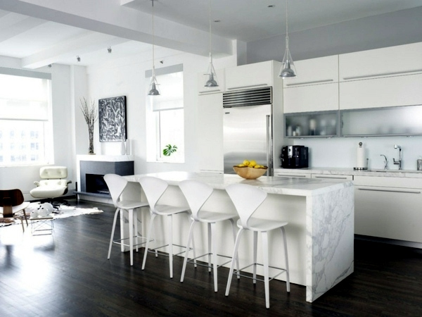 Modern White Kitchen Decor plan kitchen decor in white – modern white kitchen | interior