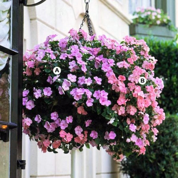how to make a hanging flower ball basket