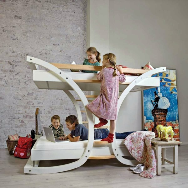 Loft bed in the nursery 100 cool bunk beds for children Interior