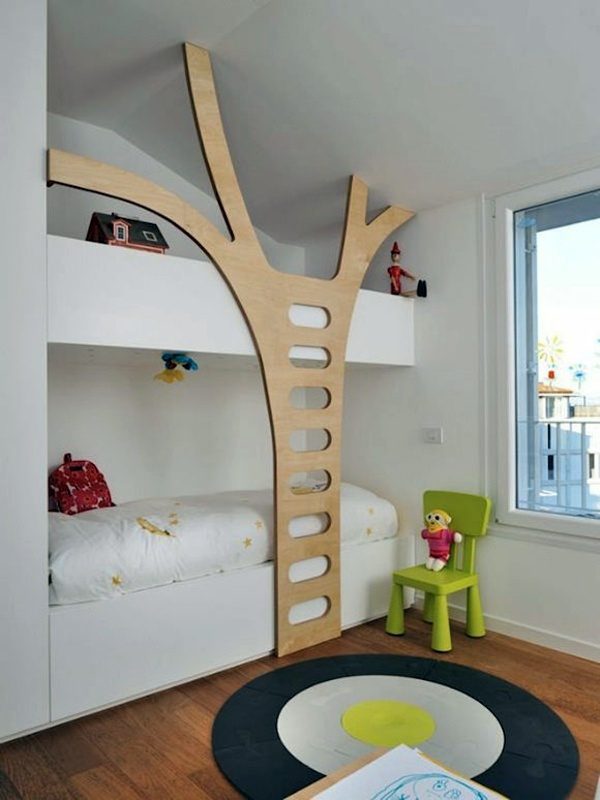 Cool Shaped Beds loft bed in the nursery – 100 cool bunk beds for children