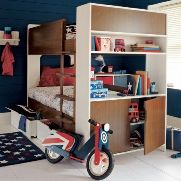 cool bunk bed for boys. American Style Loft Bed In The Nursery - 100 Cool Bunk Beds For Children Boys