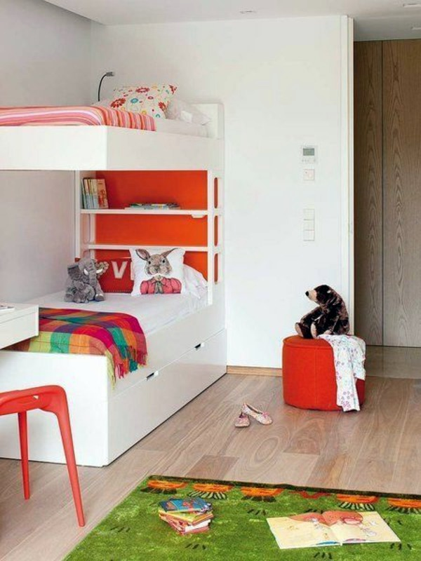 Equipped With Extra Shelves And Drawers Loft Bed In The Nursery