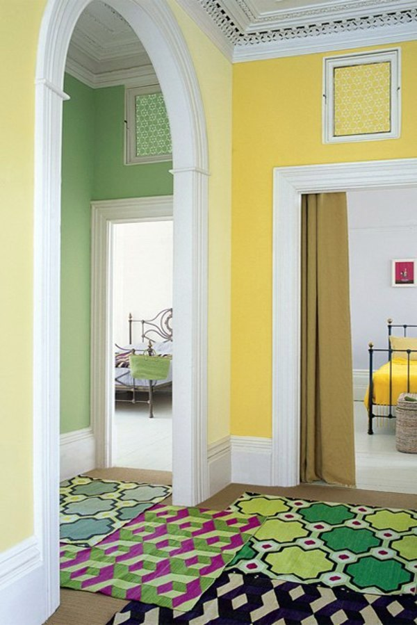 Wall in the hallway – 50 Interior design tips and ideas wall colors ...