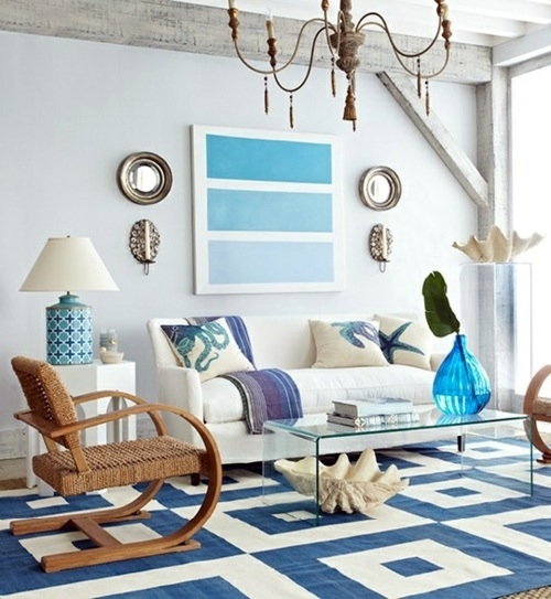 ... Living Room With Beach Flair   10 Original Décor Ideas Part 82